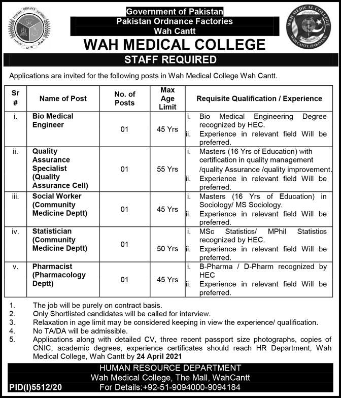 www.pof.gov.pk Jobs Apply Online 2021 - POF Jobs 2021 Online Apply - POF Careers - POF Vacancies