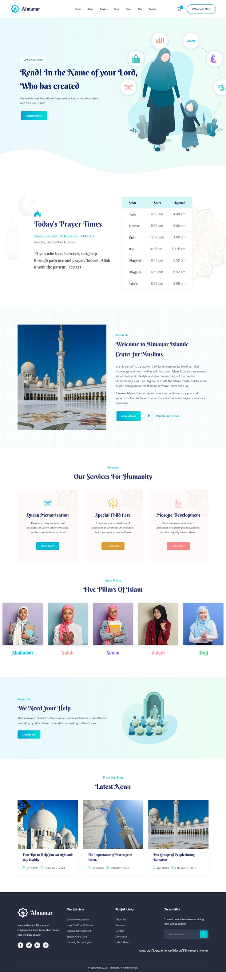 Islamic Center WordPress Theme