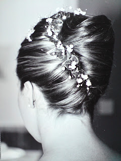 Detailed photo of wedding hair