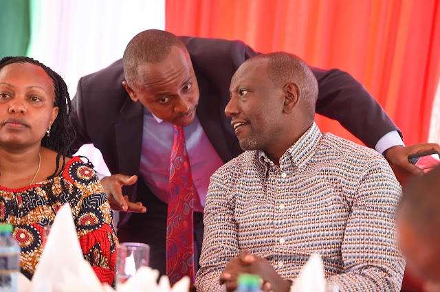 Deputy President William Ruto with Leaders at his home