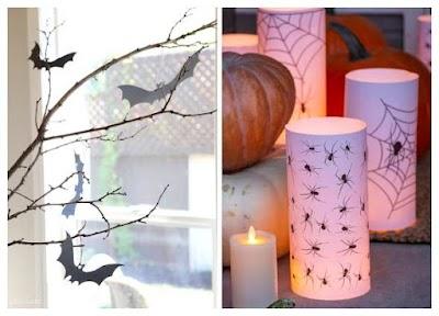 Luminaria y Árbol manualidades para Halloween