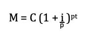 formula capitalizzazione frazionata