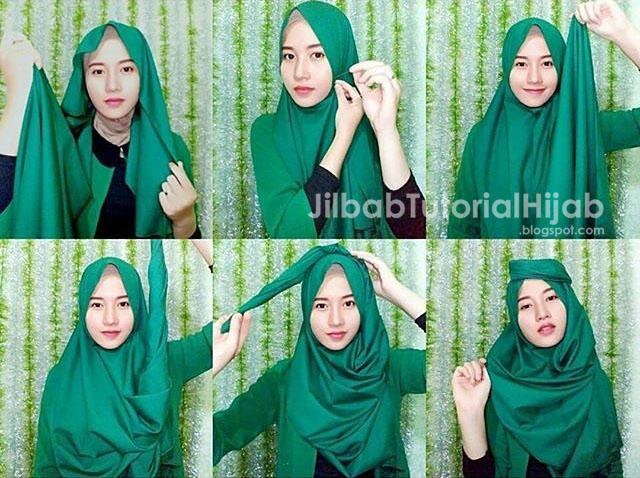 Tutorial Hijab Pashmina untuk Pesta Simple Turban Terbaru