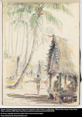 Climbing My Family Tree: Vignettes of life in Papua, by Ellis Silas, 1922. From the collection of the State Library of New South Wales. No known copyright.