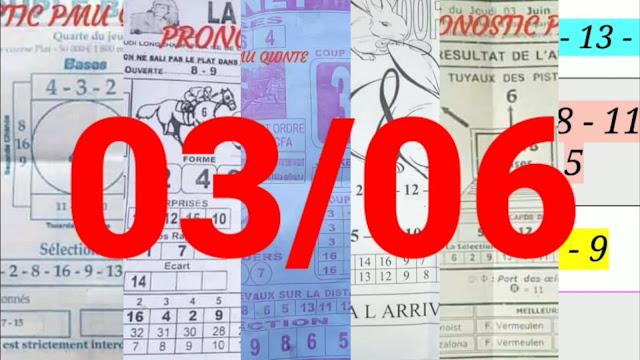 Pronostic quinté+ pmu jeudi Paris-Turf TV 03/06/2021
