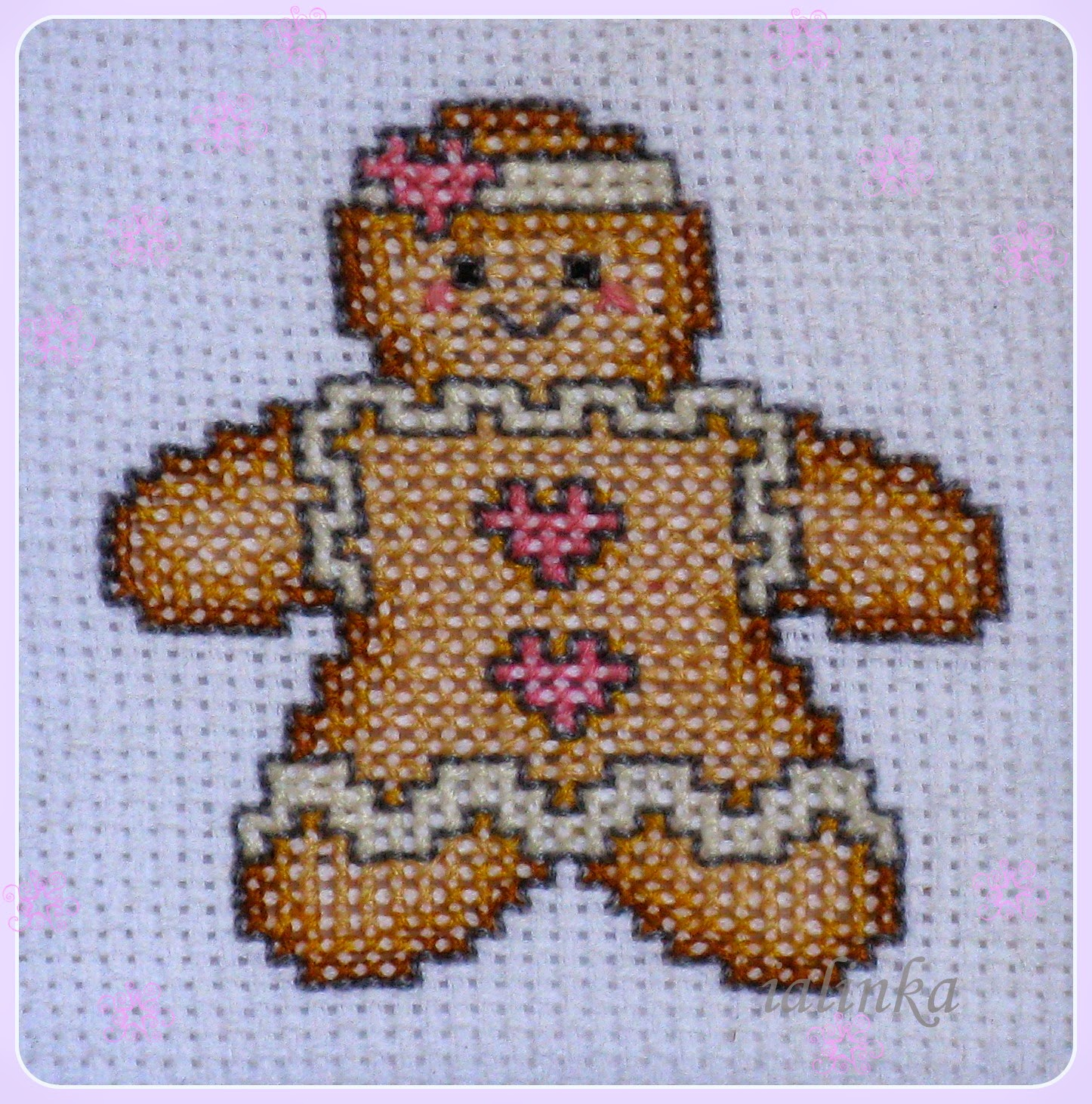 Gingerbread Man  вышивка