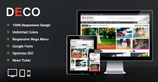 Deco Mag - Responsive Magazine Blogger Template Free Download