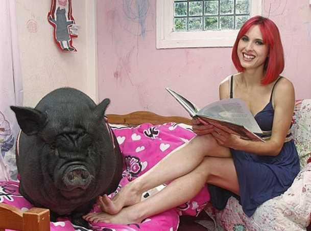 Inilah Wanita Cantik Yang Jatuh Cinta Pada Seekor Babi