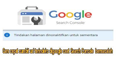 Cara cepat sumbit url terindeks digoogle saat Search Console  bermasalah