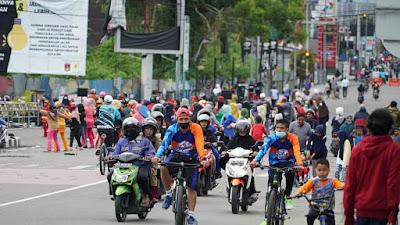 Lama Tak Terlaksana, Car Free Day di Bukittinggi Ramai Dikunjungi Masyarakat