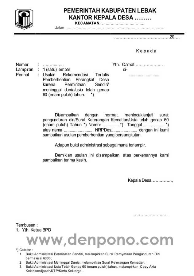 Surat Dinas Pengertian Fungsi Ciri Ciri Bagian Bagian Dan Contohnya Denpono Blog