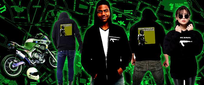 Mercenary Garage Merchandise Store - Hoodies - https://mercenary-garage.myshopify.com/