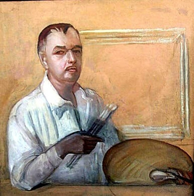 Serge Sudeikin, Self Portrait, Portraits of Painters, Fine arts, Portraits of painters blog, Paintings of Serge Sudeikin, Painter Serge Sudeikin