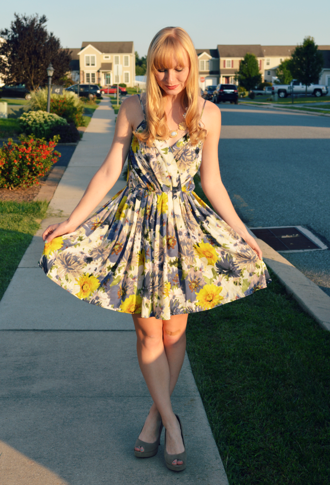 Dressed Up in a Floral Sundress | Organized Mess