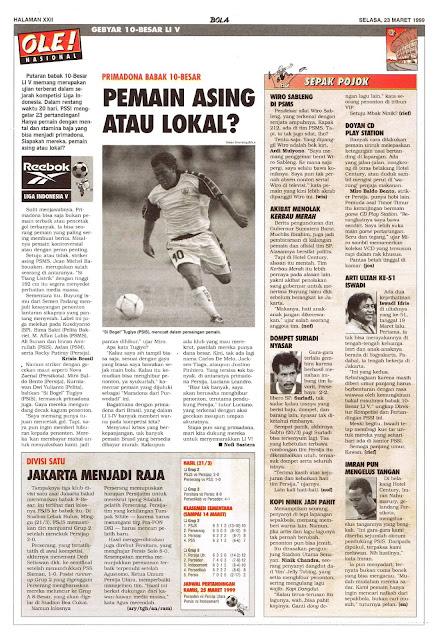 PRIMADONA BABAK 10 BESAR LIGA INDONESIA V