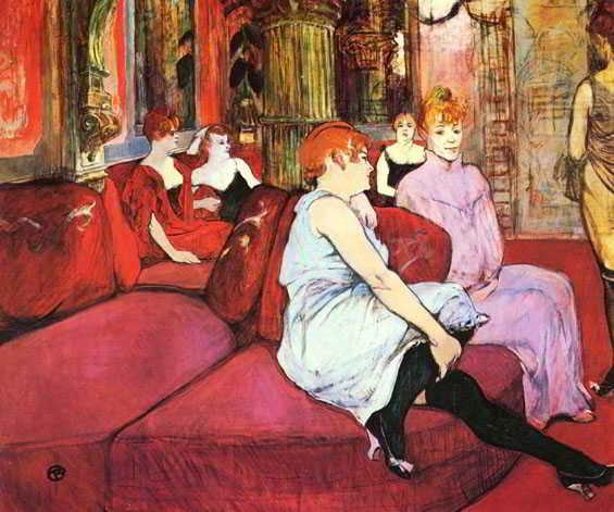 Imagen del cuadro La rue des molins, del pintor Toulouse Lautrec