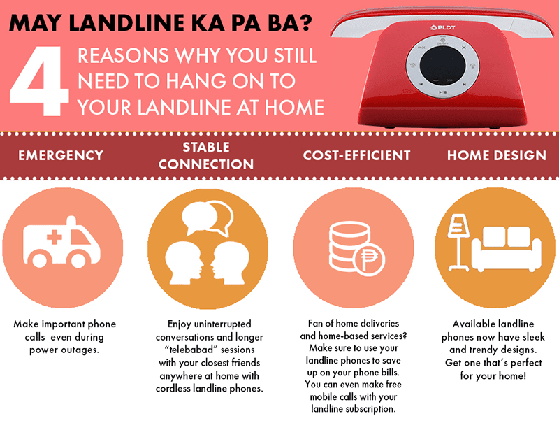 PLDT states 4 reasons to keep a landline at home