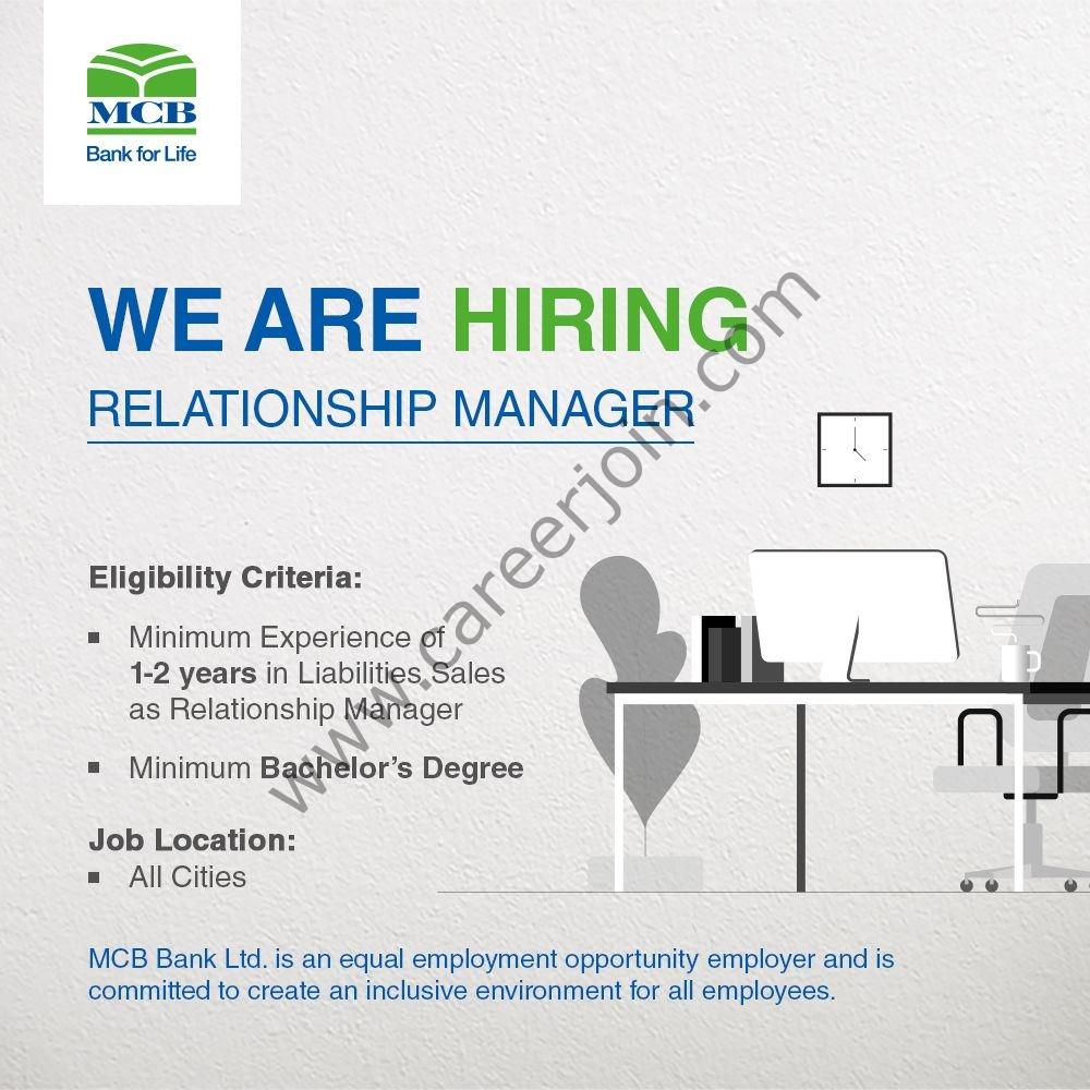 www.mcb.com.pk Jobs 2021 - MCB Bank Ltd Jobs 2021 in Pakistan