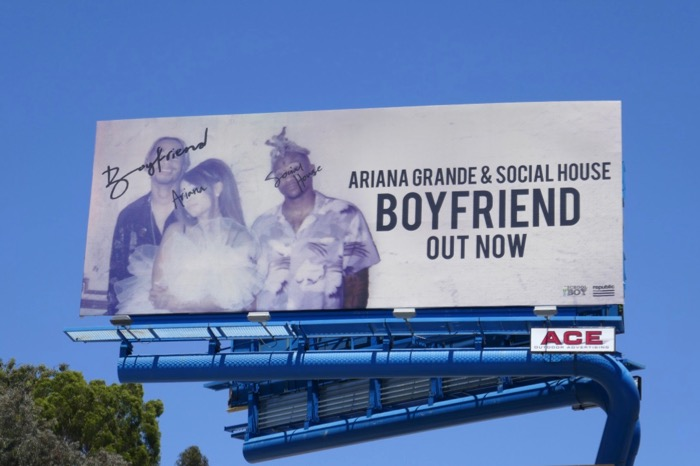 Ariana Grande Social House Boyfriend billboard