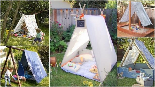 DIY Παιδικές Σκηνές για την αυλή, το μπαλκόνι ή το παιδικό δωμάτιο