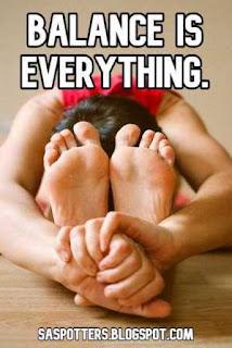 Balance is everything.