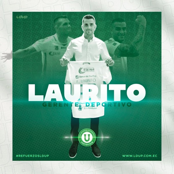Oficial: Liga de Portoviejo, Laurito nuevo director deportivo