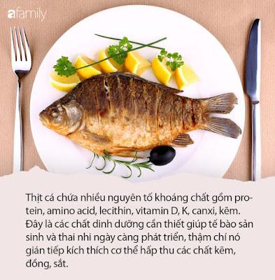 Thịt cá có lợi cho sự phát triển của thai nhi