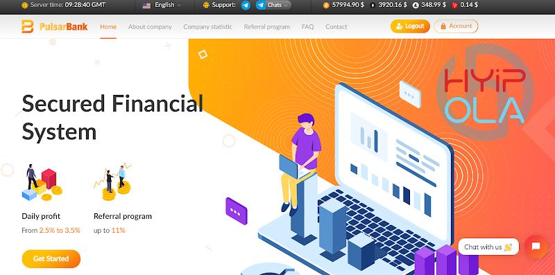 [SCAM] Review Pulsarbank - Dự án chất lượng với lãi up 3.5% hằng ngày