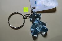 blau vorne: German Trendseller® - 6 x Teddy - Schmuck Anhänger - NEU - ┃ Mitgebsel ┃ Kindergeburtstag ┃ Kristall Bärchen ┃ 6 Stück