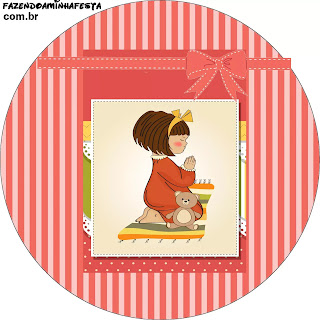 Girl Praying: Free Printable Wrappers and Toppers.