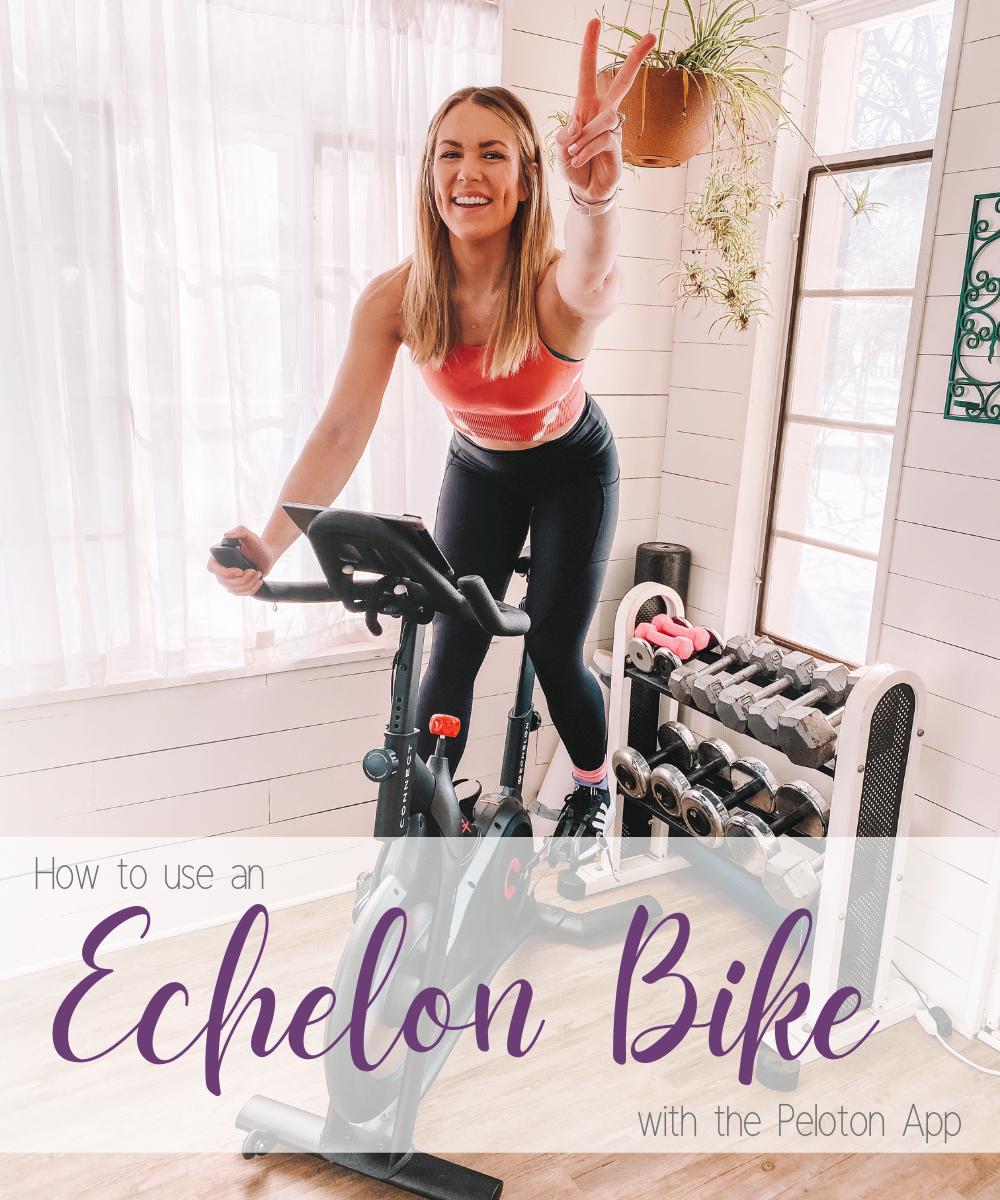 Oklahoma City blogger Amanda Martin shares how to use an Echelon bike with the Peloton app