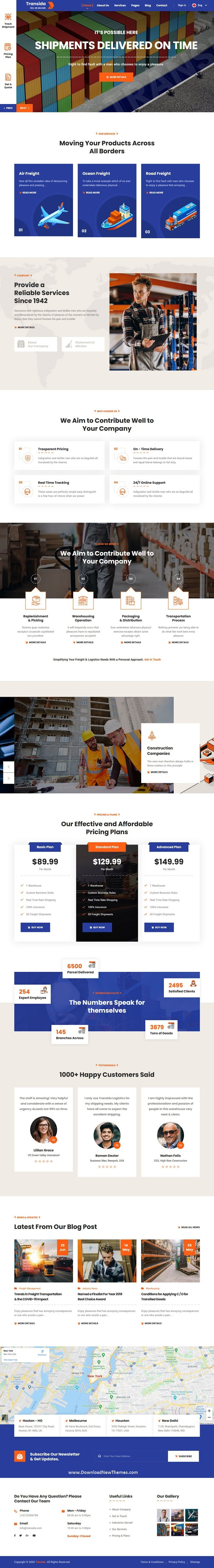 Logistics & Transportation HTML Template
