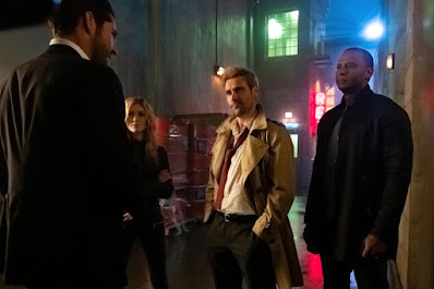 lucifer meeting constantine, john diggle and mia smokes
