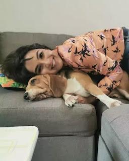 Jasmin Bhasin Dog