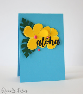 tropical inspired aloha card