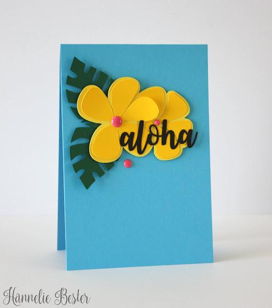 tropical inspired aloha card