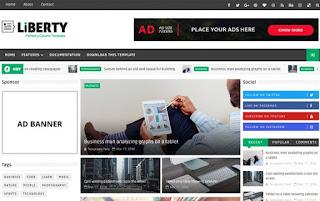 Liberty 3 Column Blogger Template