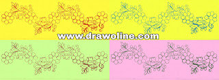 Simple flower border design for machine embroidery and aari work designs