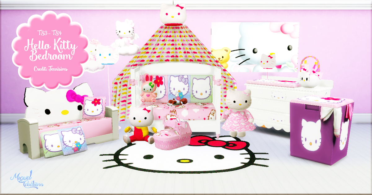 Hello Kitty Room Set : My Sims 4 Blog: TS3 Hello Kitty Bedroom Set Conversion by Miguel