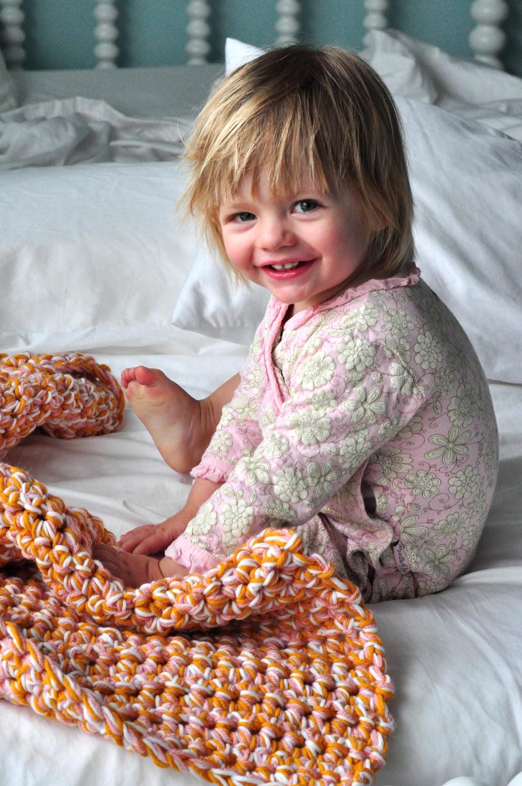 Aesthetic Nest: HOH In Crochet: Easy Baby Afghan (Tutorial