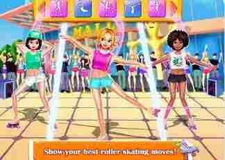 Game Sepatu Roda - Roller Skating Girl: Perfect 10 ❤ Free Dance Games