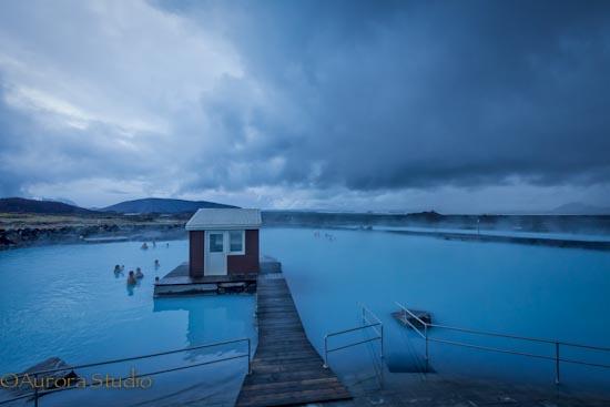 アイスランド北部、ミーヴァトンの露天風呂