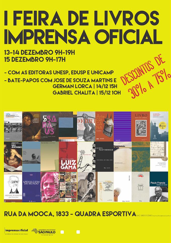 Imprensa Oficial lança Feira de Livros com mais de 2 mil títulos