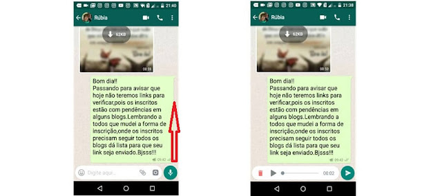 áudio no Whatsapp