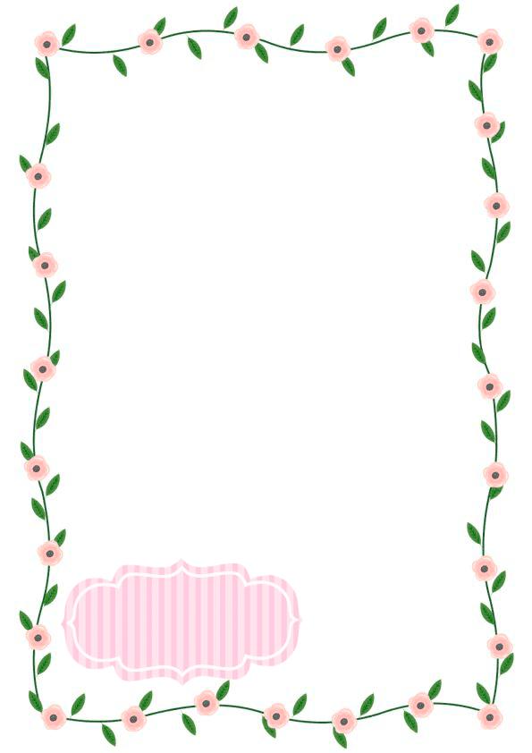 caratulas para cuadernos para niños y niñas de primaria de flores