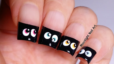 SPOOKY EYES NAIL ART