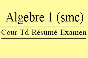 Algébre 1 (SMC) Cours // Td Et Exercices // Résumés // Examens