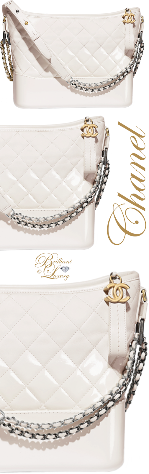 Brilliant Luxury ♦ Chanel white Gabrielle hobo bag
