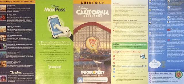 Pixar Pier Disney California Adventure Map Disneyland Summer 2018