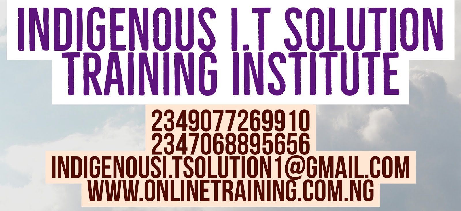 INDIGENOUS I.T SOLUTION TRAINING INSTITUTE